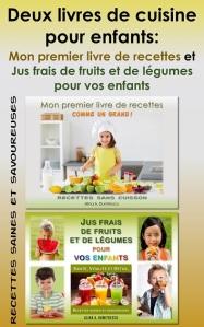 Mon premier livre de recettes et Jus frais de fruits et de légumes pour vos enfants small cover